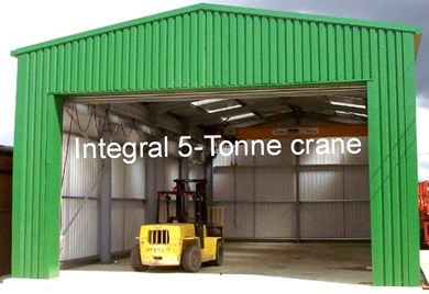 Heavy Duty Frame Including 5 Tonne Crane